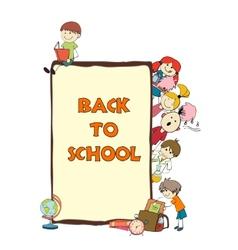 Kids school sketch poster vector image
