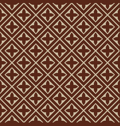 seamless - brown beige tile pattern vector image