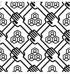 shaking hands business handshake seamless pattern vector image
