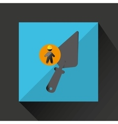 silhouette man and wrench icon design vector image