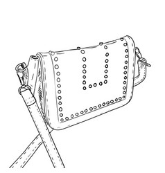 sketch of ledies handbag vector image