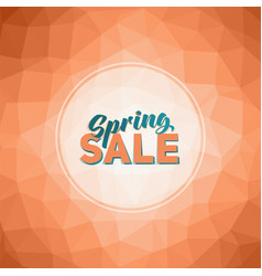 spring sale tag vector image vector image