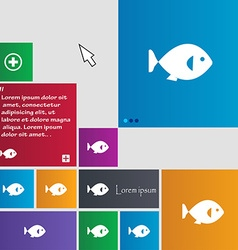 Fish icon sign buttons modern interface website vector