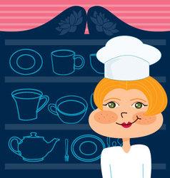 mom chef vector image vector image