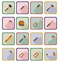 repair tools flat icons 20 vector image