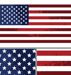 Vintage Distressed American Flag Background vector image vector image