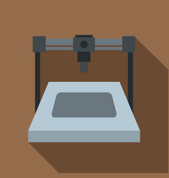 3d printer icon flat style vector