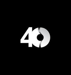 40 years anniversary celebration white circle vector