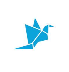 abstract bird logo icon design template vector image