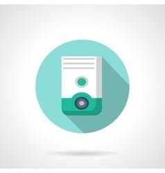 Air dehumidifier flat color design icon vector image