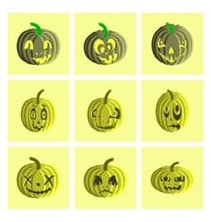 Assembly flat Halloween pumpkin vector