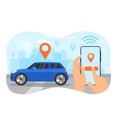 autonomous wireless parking concept vector image