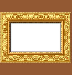 background frame for a picture gilded with vector image