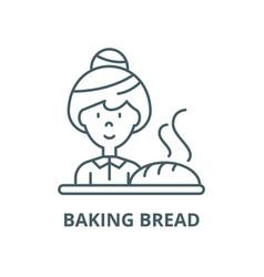 baking bread line icon linear concept vector image