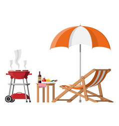 Bbq party concept vector