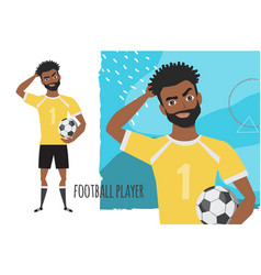 black african american football player is vector image