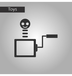 Black and white style toy box vector