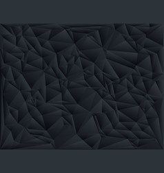 Black polygon abstract triangulated background vector