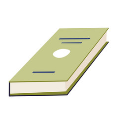 Book in hardcover textbook or diary with pages vector