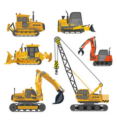 building work construction machinery equipment vector image