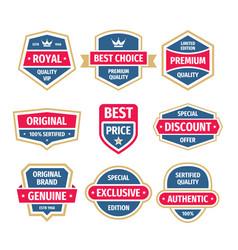 business badges set in vintage design style vector image