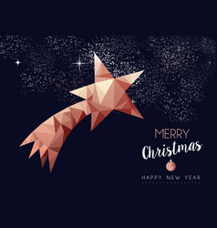 christmas and new year copper luxury greeting card vector image