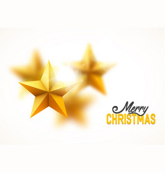 christmas gold yellow stars background blurred vector image