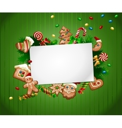 Christmas sweet background vector image
