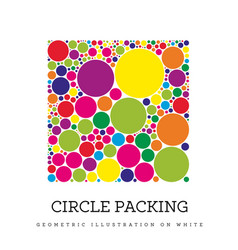 circle packing geometric vector image