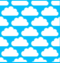 Cloud pattern with white round cumulus clouds vector