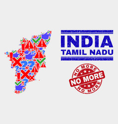collage tamil nadu state map sign mosaic and vector image