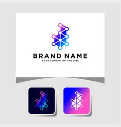 Colorful logo design letter d vector