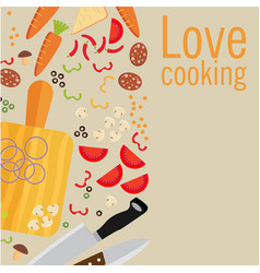 cooking poster design vector image