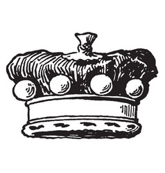 Coronet is a barons crown vintage engraving vector