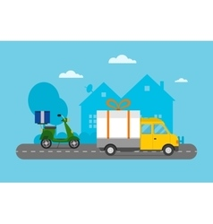 Delivery transport cargo logistic vector