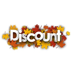 Discount banner with maple leaves vector image