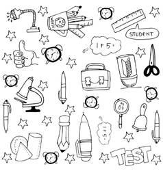 Doodle of simlple hand draw element school vector