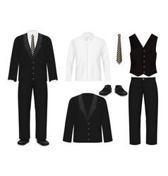 Elegant men suit realistic isolated vector