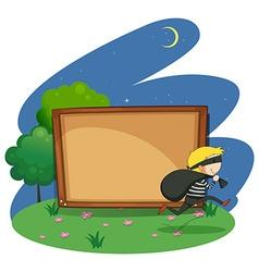 Empty board with thief design vector