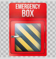 Empty red box with in case emergency vector