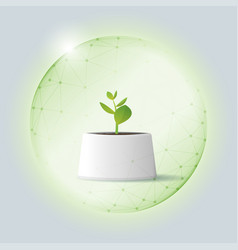 Environmental conservation concept with plant vector