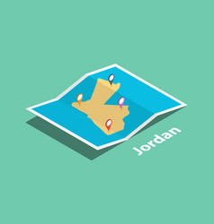 Explore jordan maps with isometric style and pin vector