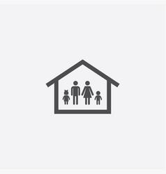 Family home icon vector