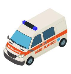 fast ambulance icon isometric style vector image