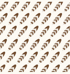 feathers decoration seamless pattern style vector image