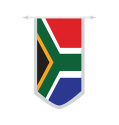 flag of south africa on a banner vector image