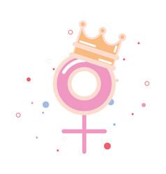 Gender crown girl power vector
