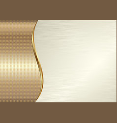 golden texture and creamy background vector image