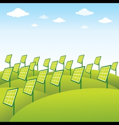 Green energy source solar panel background vector