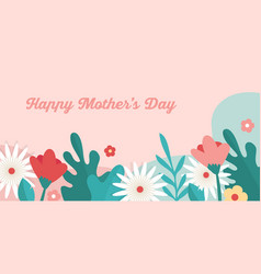 happy mothers day holiday colorful flowers vector image